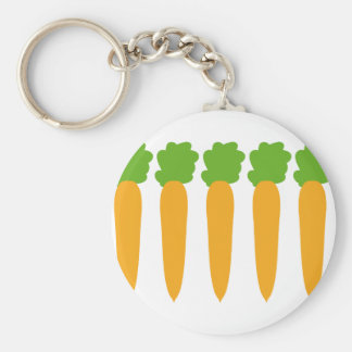 lined up carrots keychain