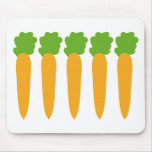 lined up carrots mouse pad