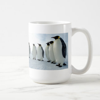 Lined up Emperor Penguins Classic White Coffee Mug