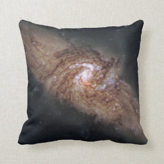 Lined-Up Galaxies Show Rare Details (NGC 3314) Throw Pillow