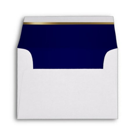 Lined with Dark Blue and Gold Bar Envelope