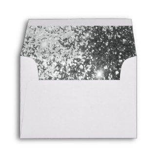 Lined with Silver Glitter Envelope