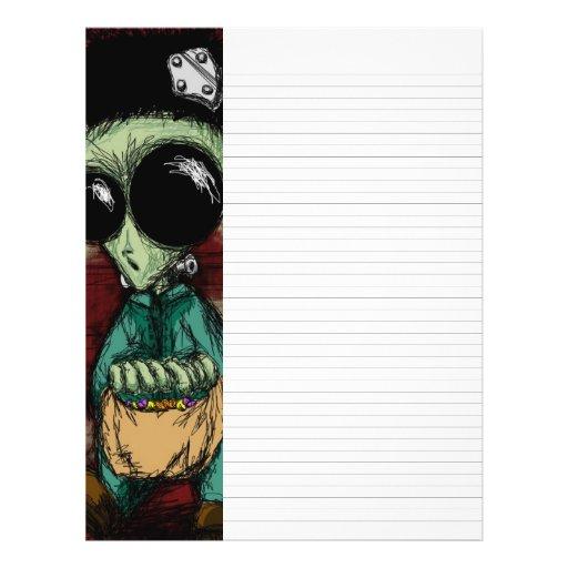alien writing paper