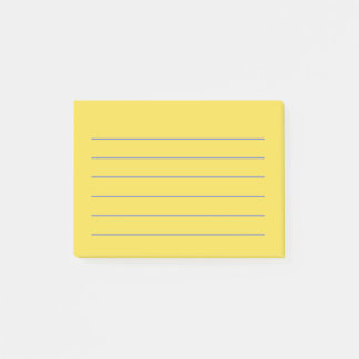 Lined Yellow Notes