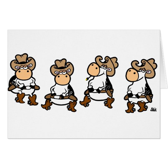 Linedancing Cows Card