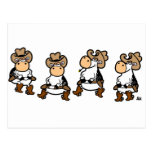 Linedancing Cows Post Cards