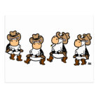 Linedancing Cows Postcard