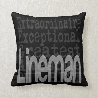 Lineman Extraordinaire Throw Pillow