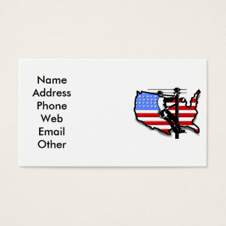 Lineman or Electrician Business Cards