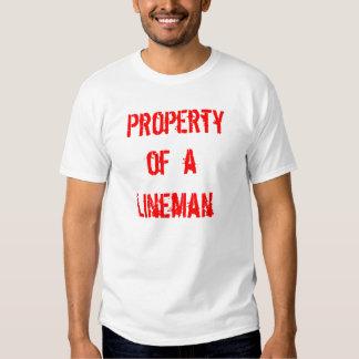 Lineman, Property, of  a T-shirt