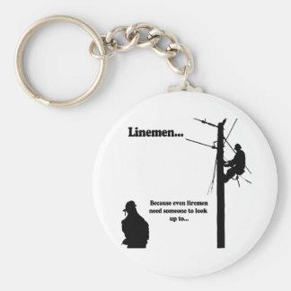 Linemen Because Keychain