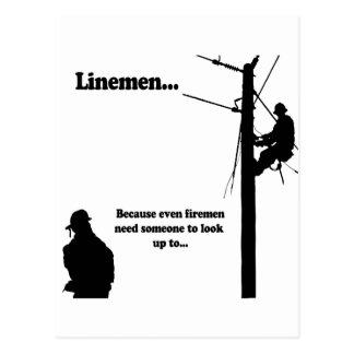 Linemen Because Postcard