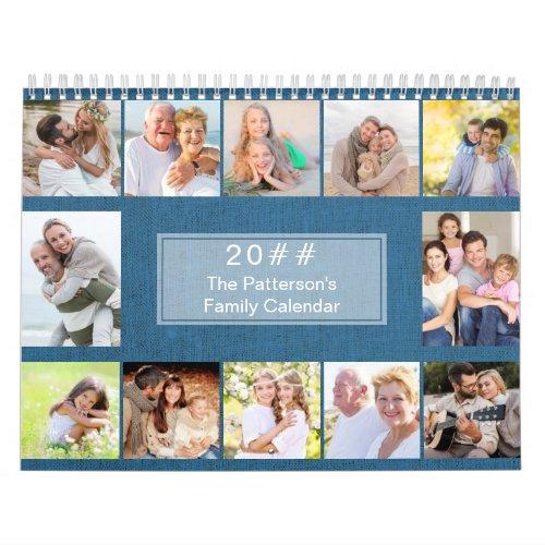 Linen 3 Photos per Month with Notes Section 2021 Calendar