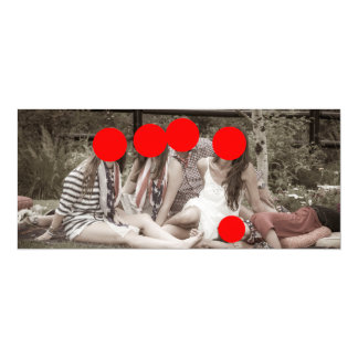 Linen 4' X 9.25' Christmas Card
