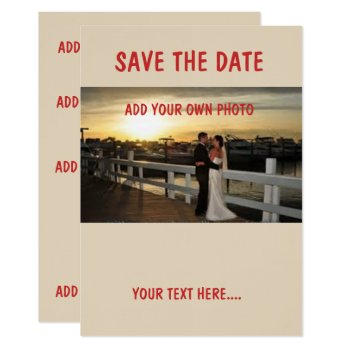 """Linen 5"""" X 7"""" Save The Date  Envelopes Included Card by CREATIVEWEDDING at Zazzle"""