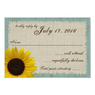 Linen and Barnwood Sunflower Response Card