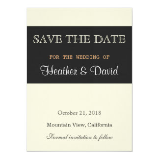 Linen Beige Grey Save the Date Wedding Invitation