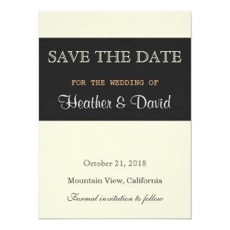 Linen Beige Grey Save the Date Wedding Invitation