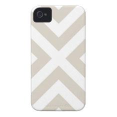 Linen Beige Modern Chevron Stripes Iphone 4 Case-mate Case at Zazzle