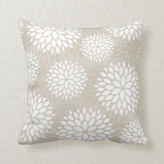 Modern Flower Print Pillows, Modern Flower Print Throw Pillows
