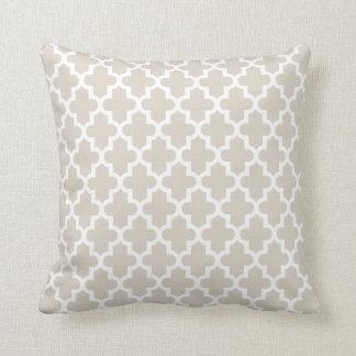 Linen Beige Modern Moroccan Pattern Pillows