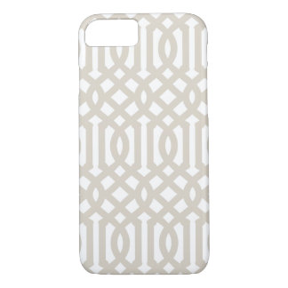 Linen Beige Modern Trellis iPhone 8/7 Case