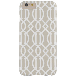 Linen Beige Modern Trellis Pattern Barely There iPhone 6 Plus Case