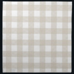 """Linen Beige Preppy Buffalo Check Plaid Cloth Napkin<br><div class=""""desc"""">Preppy Buffalo Check Plaid Country Gingham Checkered Pattern</div>"""