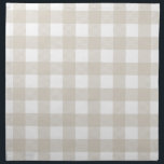 "Linen Beige Preppy Buffalo Check Plaid Cloth Napkin<br><div class=""desc"">Preppy Buffalo Check Plaid Country Gingham Checkered Pattern</div>"