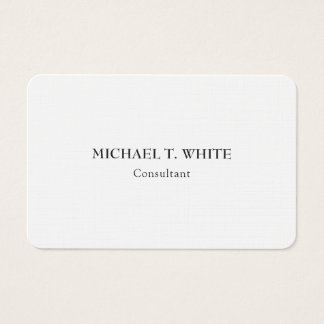 Linen Classical Minimalist Professional Elegant Business Card