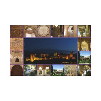 Linen cloth Alhambra Granada Canvas Print