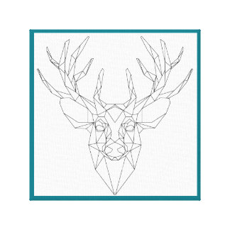 Linen cloth maple/linear reindeer lowpoly canvas print