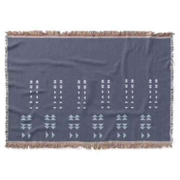 Aztec Themed Linen Effect Aztec Throw