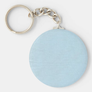 Linen Fabric Texture Background Baby Blue Key Chains