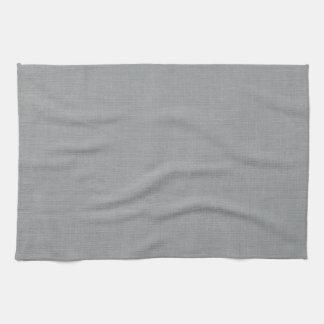 Linen Fabric Texture Background // Chelsea Grey Hand Towel