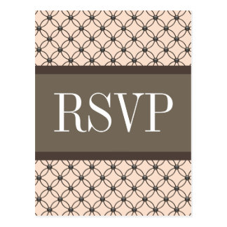 Linen Fancy Lattice RSVP Postcard
