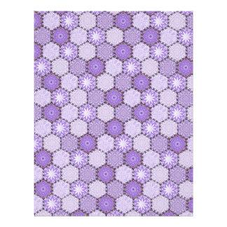 Linen Finish paper  Patchwork lilac / purple Custom Letterhead