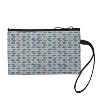 Linen Fish Coin Wallet
