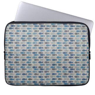 Linen Fish Laptop Sleeve