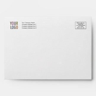 Linen Greeting Card Envelope Logo Address Indicia