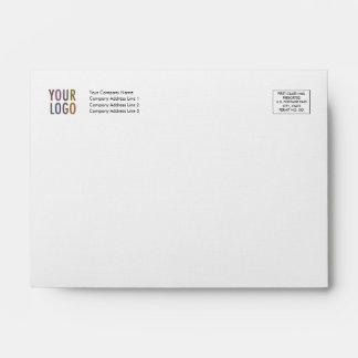 Linen Invitation Envelope A6 Logo Address Indicia