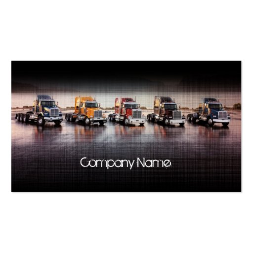 Linen Layer Trucks In The Line Card Business Card Templates