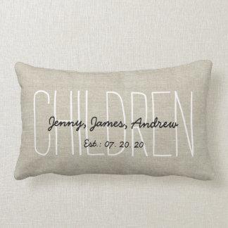 Linen Look Children Personalized Keepsake Pillow