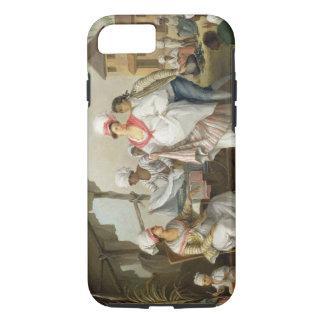 Linen Market, Roseau, Dominica, c.1780 (oil on can iPhone 7 Case