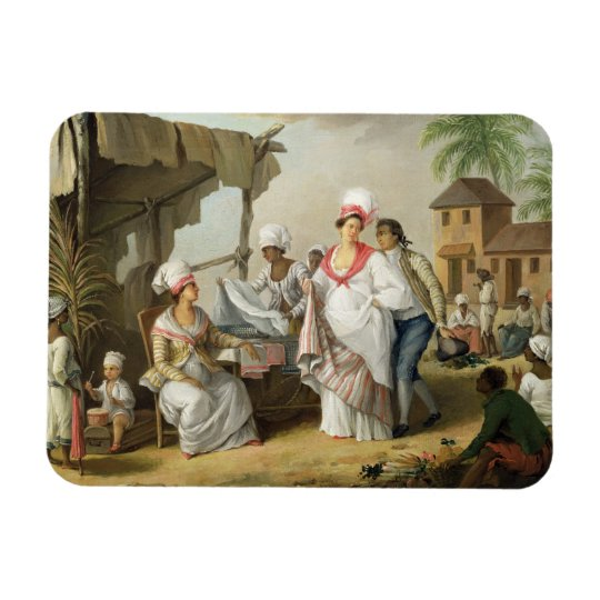 Linen Market, Roseau, Dominica, c.1780 (oil on can Magnet