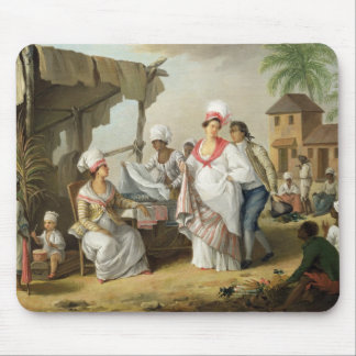 Linen Market, Roseau, Dominica, c.1780 (oil on can Mouse Pad