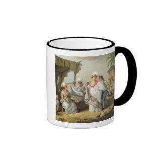 Linen Market, Roseau, Dominica, c.1780 (oil on can Ringer Coffee Mug