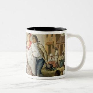 Linen Market, Roseau, Dominica, c.1780 (oil on can Two-Tone Coffee Mug