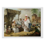 Linen Market, Roseau, Dominica, c.1780 (oil on can Posters