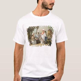 Linen Market, Roseau, Dominica, c.1780 (oil on can T-Shirt